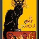 Le Chat D'Amour Love Greeting  by taiche