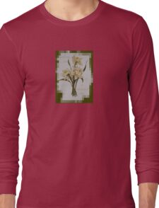 Wishing You A Wonderful Day Double Narcissi In A Bouquet Long Sleeve T-Shirt