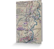 Civil War Maps 0831 Map of the battle of Chancellorsville including operations from April 29th to May 5th 1863 Greeting Card