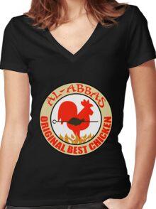 Al-Abbas: Original Best Chicken Women's Fitted V-Neck T-Shirt
