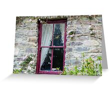 Rustic Window Greeting Card