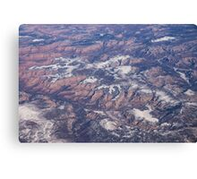 Red Earth Canyons with a Dusting of Snow Canvas Print
