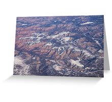 Red Earth Canyons with a Dusting of Snow Greeting Card