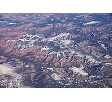Red Earth Canyons with a Dusting of Snow Photographic Print