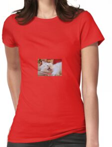 Cute Portrait Of A Yawning Van Cat Womens Fitted T-Shirt