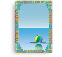 Beachball Floating On Water Canvas Print