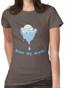 Save the Arctic bear Womens Fitted T-Shirt