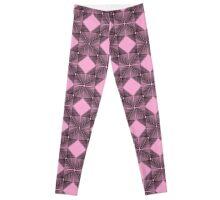 Pink & Black Box Pattern Leggings