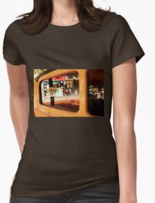 Car window reflection Womens Fitted T-Shirt