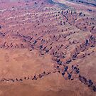 Red Earth - Flying Over Meandering Canyons, Riverbeds and Mesas by Georgia Mizuleva