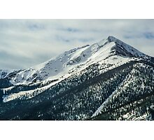 Snowy Mountain Forest Photographic Print