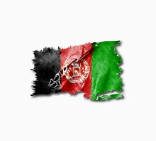 Afghan torn flag with structure. Unisex T-Shirt