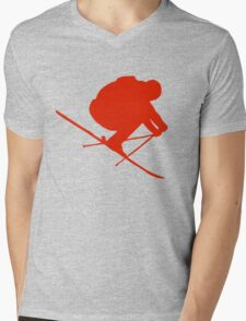 Skier  Mens V-Neck T-Shirt