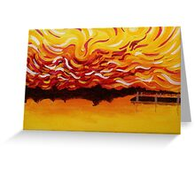 Bladensburg Waterfront at Sunset Greeting Card