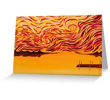 Bladensburg Waterfront at Sunset (Second) Greeting Card