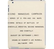 Civil War Maps 1578 Second Manassas Campaign a series of 21 pen and ink maps showing details of battles of Gainesville Groveton Second Manassas and Chantilly August 28-September 1 1862 iPad Case/Skin