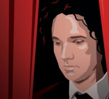 Vegard at the Curtain Sticker