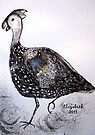 Numida meleagris. by Elizabeth Kendall