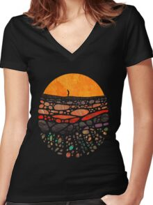 Beneath Women's Fitted V-Neck T-Shirt