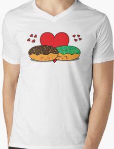 Donut Couple Mens V-Neck T-Shirt