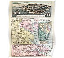 Civil War Maps 2255 Theatre of war in Virginia Poster