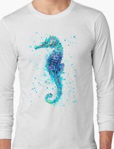 Blue Seahorse Long Sleeve T-Shirt