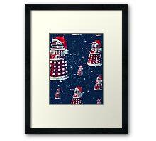 Doctor Who Daleks Christmas Framed Print