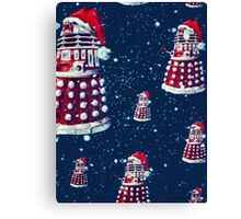 Doctor Who Daleks Christmas Canvas Print