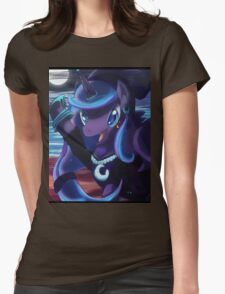 Pirate Luna Womens Fitted T-Shirt