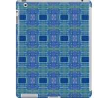 blue and lime stripes and squares iPad Case/Skin