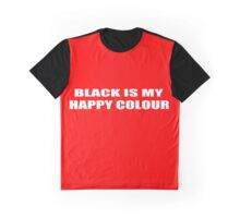 Black Is My Happy Colour funny nerd geek geeky Graphic T-Shirt