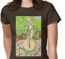 woman with sundial Womens Fitted T-Shirt