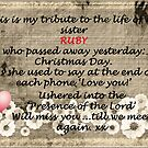 A tribute to my Sis..RIP by sarnia2