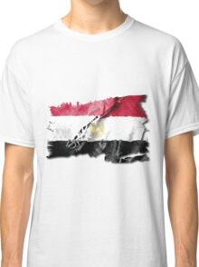 Egyptian torn flag with structure Classic T-Shirt
