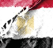 Egyptian torn flag with structure Sticker