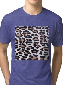 BLACK AND BROWN LEOPARD Tri-blend T-Shirt