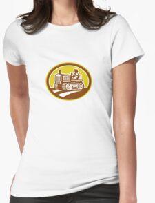 Farmer Drive Vintage Tractor Oval Retro T-Shirt