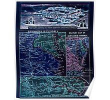 Civil War Maps 2255 Theatre of war in Virginia Inverted Poster