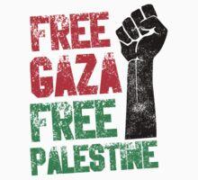 Free Gaza Free Paletina by teesandlove