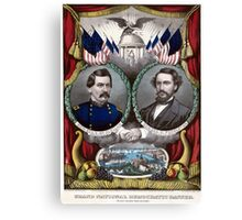 Vintage Civil War Democratic Presidential Election Canvas Print