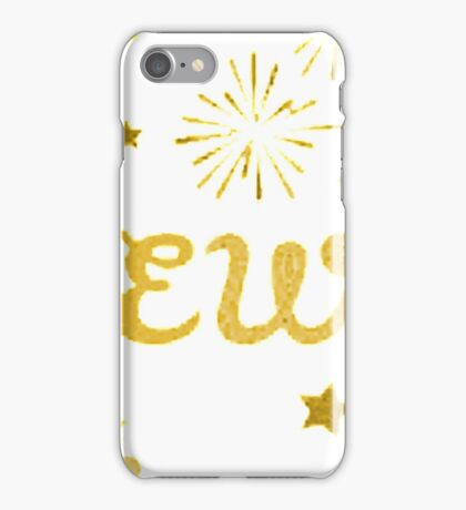 happy new year gold iPhone Case/Skin