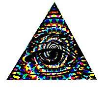 psycho illuminati Photographic Print