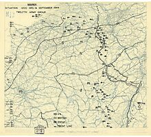 September 16 1944 World War II HQ Twelfth Army Group situation map Photographic Print