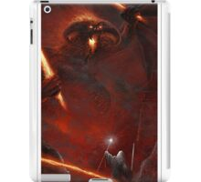 Lord of the Rings Balrog vs Gandalf iPad Case/Skin