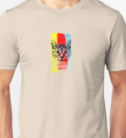 Cat with Primary Colors Unisex T-Shirt
