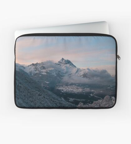 Snowy Mountains Morning Laptop Sleeve