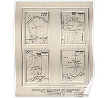 Civil War Maps 0113 Battle grounds in Missouri during Price's raid in the fall 1864 Poster