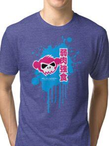 Zombie Monkey Pink Tri-blend T-Shirt