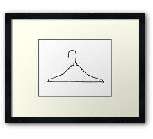 Wire Hanger Framed Print