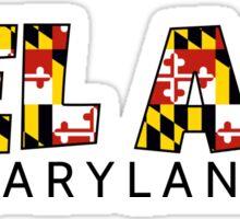 Bel Air Maryland flag word art Sticker